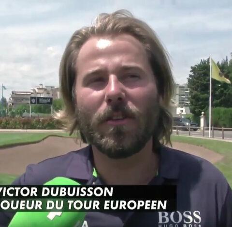 Victor Dubuisson lors de la mapauto golf cup